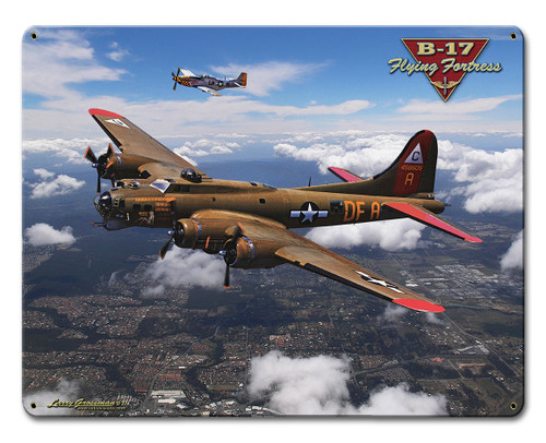 B-17 Flying Fortress Metal Sign 12 x 15 Inches