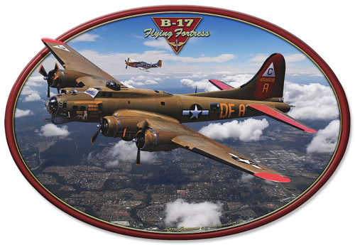 B-17 Flying Fortress Metal Sign 18 x 12 Inches