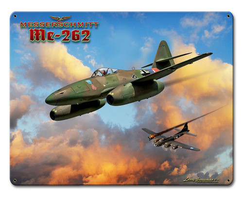Me-262 Jet Metal Sign 12 x 15 Inches