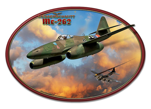 Me-262 Jet Metal Sign 20 x 13 Inches