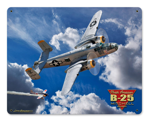 B-25 Mitchell Bomber Metal Sign 30 x 24 Inches