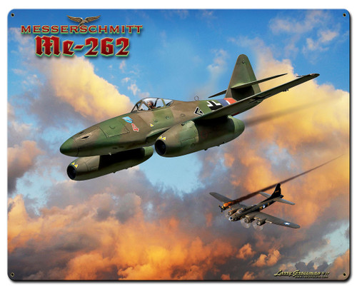 Me-262 Jet Metal Sign 24 x 30 Inches