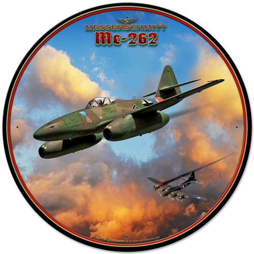 Me-262 Jet Metal Sign 28 x 28 Inches