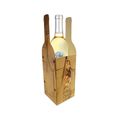 White Wine Lover Chablis Metal Wine Box 3 x 12 Inches