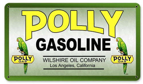 Polly Gas Metal Sign 14 x 8 Inches