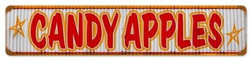 Retro Candy Apples Metal Sign 28 x 6 Inches