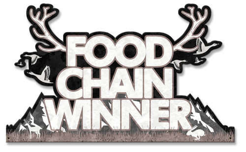 Food Chain Winner Metal Sign 21 x 13 Inches