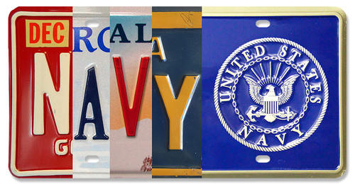 Seal Of The Us Dept Of The Navy License Plate 12 x 6 Inches