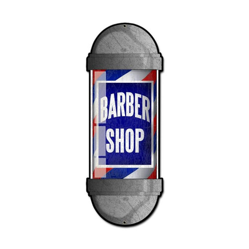 Barber Shop Metal Sign 9 x 24 Inches
