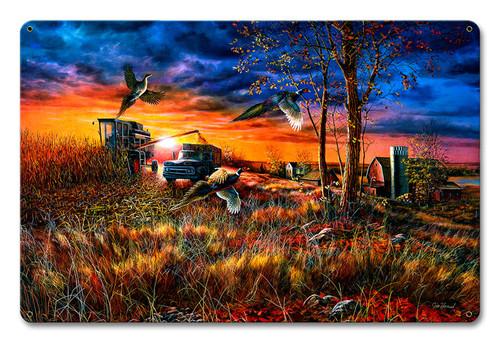 Harvest Ringnecks Metal Sign 18 x 12 Inches