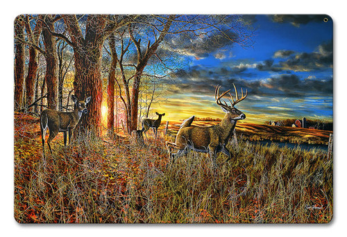Out For The Evening Metal Sign 12 x 18 Inches