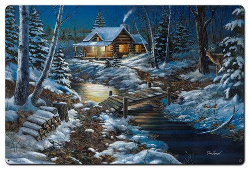 Woodland Retreat Metal Sign 24 x 36 Inches