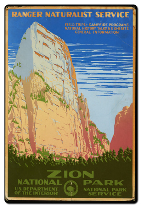 Zion National Park Metal Sign 24 x 36 Inches