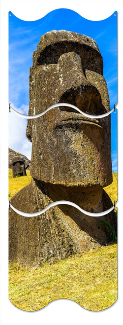 Moai Statue Metal Sign 12 x 36 Inches