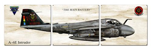 A-6e Intruder Metal Sign 48 x 14 Inches
