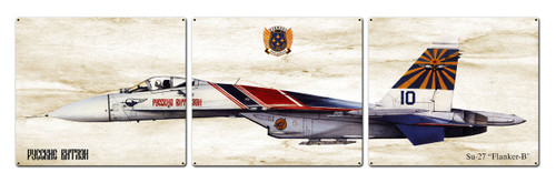 Su-27 Flanker-b Metal Sign 48 x 14 Inches