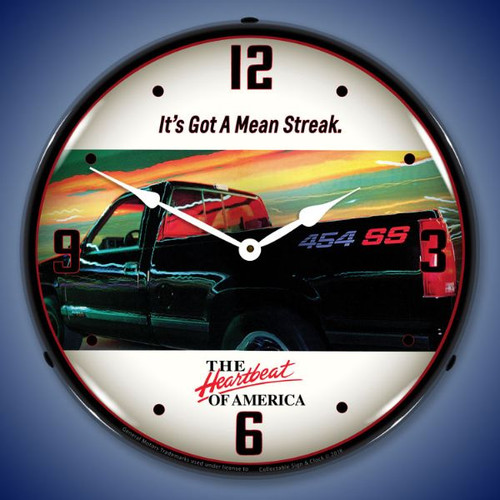 Chevrolet 454 SS Truck Lighted Wall Clock 14 x 14 Inches