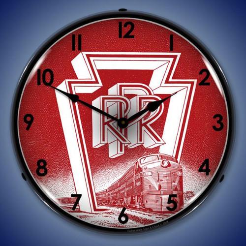 Pennsylvania Railroad Lighted Wall Clock 14 x 14 Inches