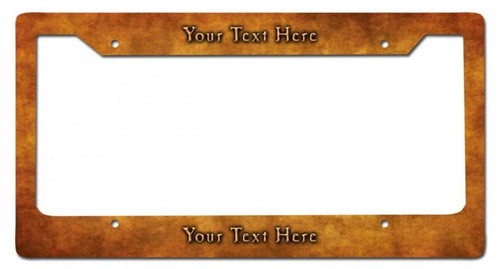 Brass Personalized License Frame 12 x 6 Inches