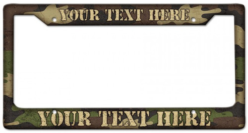 Camouflage Personalized License Frame 12 x 6 Inches