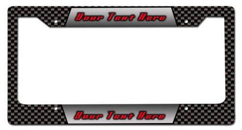 Carbon Personalized License Frame 12 x 6 Inches