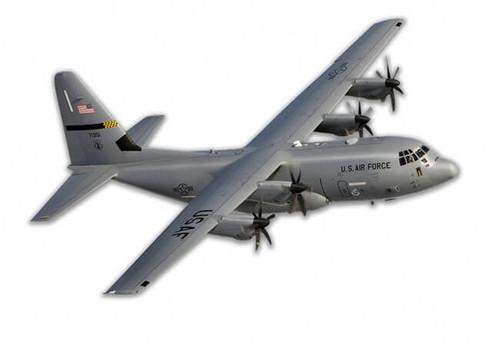C-130 Hercules Metal Sign 18 x 12 Inches