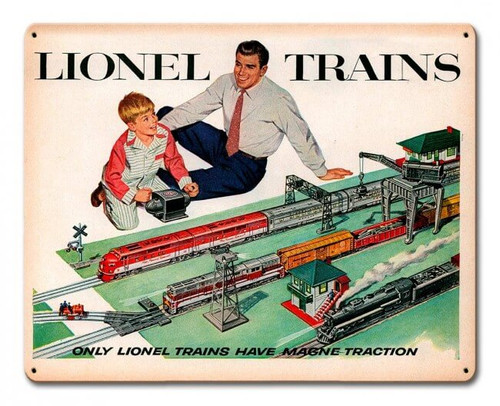 Lionel Trains Metal Sign 15 x 12 Inches