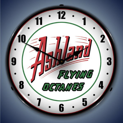 Ashland Gas LED Lighted Wall Clock 14 x 14 Inches