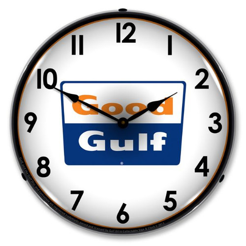 Good Gulf LED Lighted Wall Clock 14 x 14 Inches
