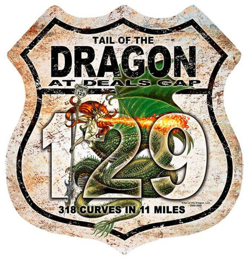 Dragon Lady Road Shield Metal Sign 15 x 15 Inches