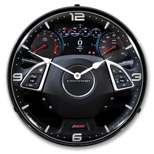 2017 Camaro Dash LED Lighted Wall Clock 14 x 14 Inches