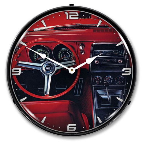 1967 Camaro Dash LED Lighted Wall Clock 14 x 14 Inches
