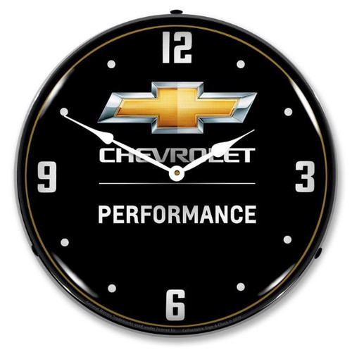 Chevrolet Performance 2 LED Lighted Wall Clock 14 x 14 Inches