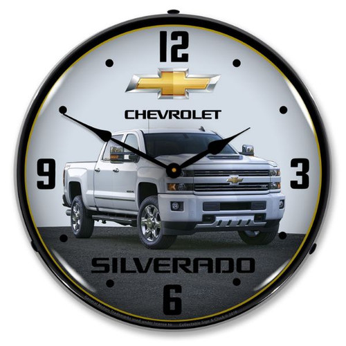 2017 Chevrolet Silverado LED Lighted Wall Clock 14 x 14 Inches