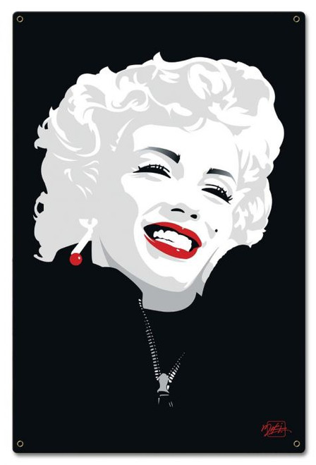 Miki Marilyn Monroe Metal Sign 16 x 24 Inches