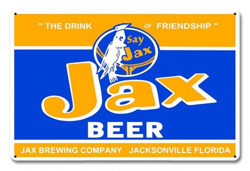 Jax Beer Metal Sign 18 x 12 Inches