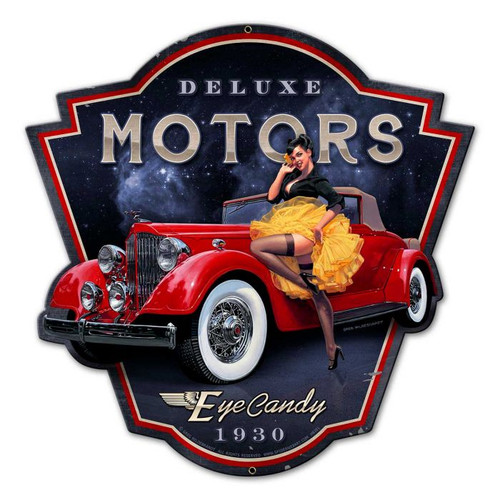 Eye Candy Motors Metal Sign 16 x 16 Inches