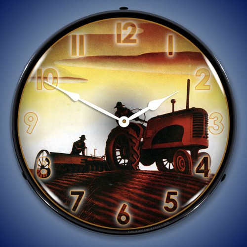 Working in the Field LED Lighted Wall Clock 14 x 14 Inches