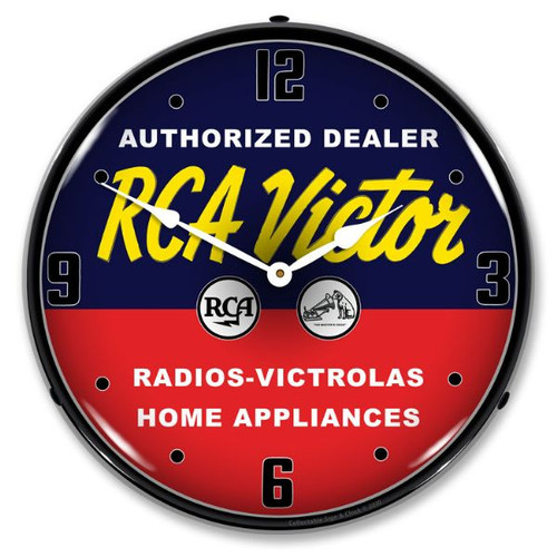 RCA Victor Authorized Dealer LED Lighted Wall Clock 14 x 14 Inches