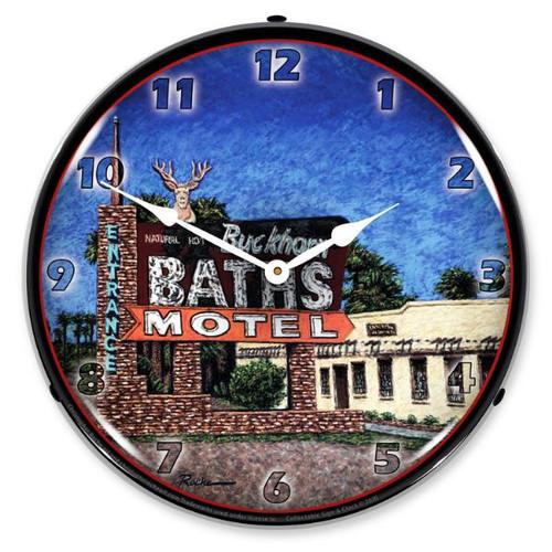 Buckhorn Bath LED Lighted Wall Clock 14 x 14 Inches