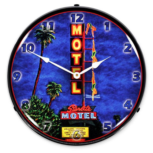 Diving Lady LED Lighted Wall Clock 14 x 14 Inches