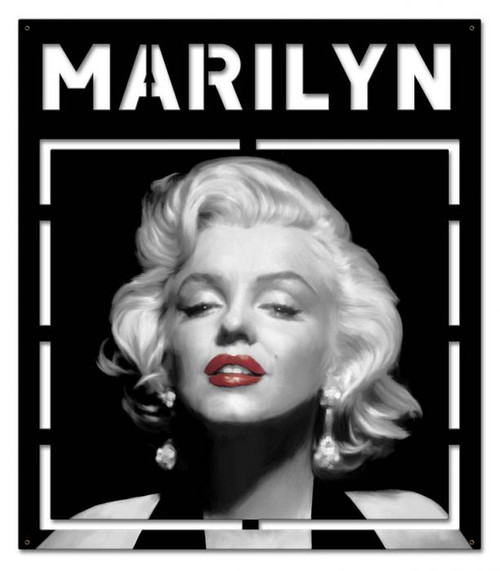 Marilyn Cutout Metal Sign 24 x 27 Inches