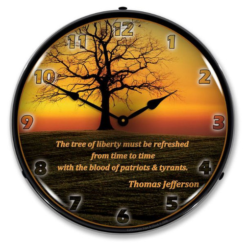The Tree of Liberty LED Lighted Wall Clock 14 x 14 Inches