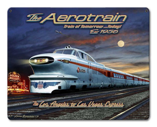Train of Tomorrow Metal Sign 15 x 12 Inches
