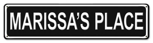 Street Metal Sign - Personalized 20 x 5 Inches