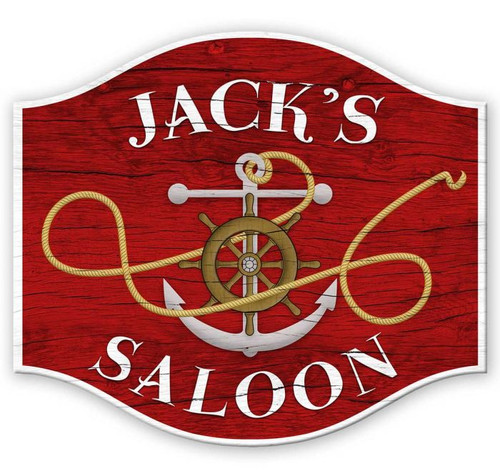 Sailor SaloonMetal Sign - Personalized  18 x 16 Inches