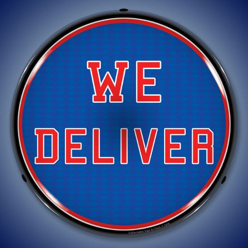 We Deliver LED Lighted Business Sign 14 x 14 Inches
