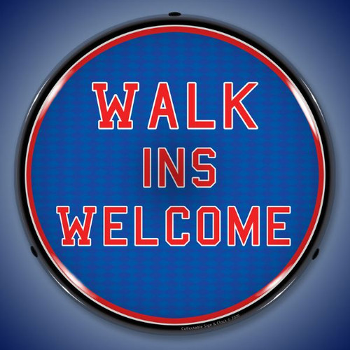 Walk Ins Welcome LED Lighted Business Sign 14 x 14 Inches