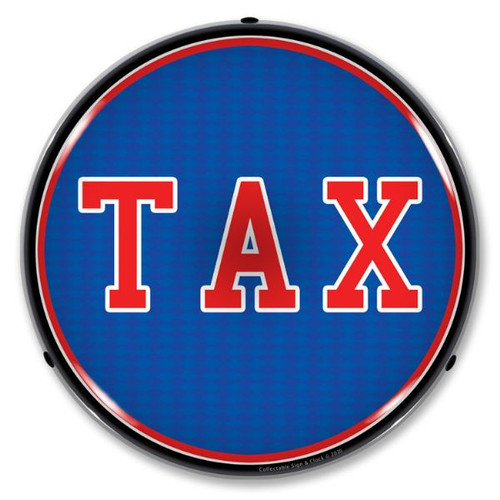 TAX LED Lighted Business Sign 14 x 14 Inches