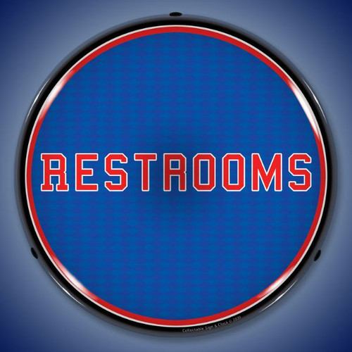 Restrooms LED Lighted Business Sign 14 x 14 Inches